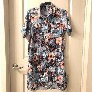 Hawaiian Pattern Dress